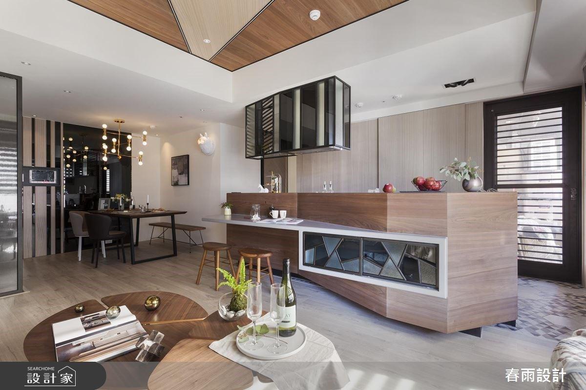 訂製你的吧檯、屏風!幾何趣味打造專屬度假宅