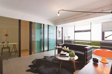 15坪單身型男小公寓的復古情調