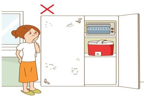 電器櫃沒做排熱孔,櫃子貼皮脫落和膨皮!