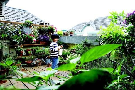 花園就是小布和小祐的遊樂場 生活達人S a n d r a 的家(上)