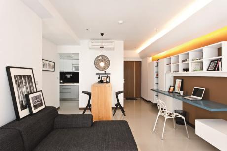 【舒適小住宅】16坪小宅維持原格局,以不同櫃體形式,創造空間機能