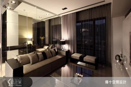 不動3房格局,讓清透玻璃解放侷促格局,成就舒適寬敞的奢華宅