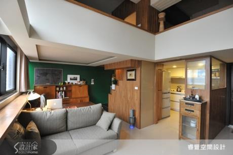 10坪挑高4米5舒適木質感小宅設計
