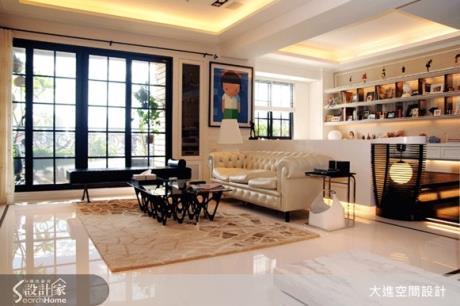 好像住在美術館裡!清爽時尚的新古典居家宅