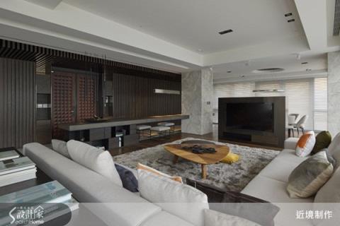 呼應建築條件,讓空間延伸的開闊複層大宅