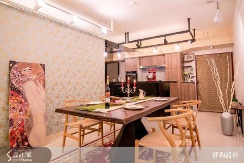 餐廚合一 法式藍帶總鋪師的現代鄉村中島廚房