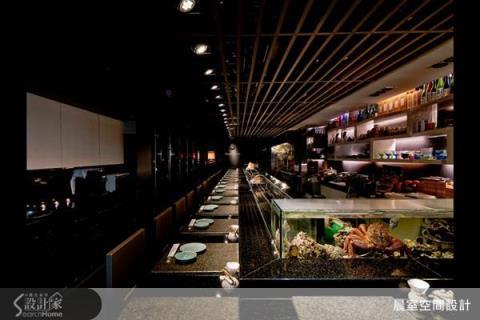 屬於台北東區的深夜食堂,鮮明木感創造視覺張力