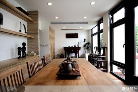 品茗生活的休閒宅,木質樸味的自然色調