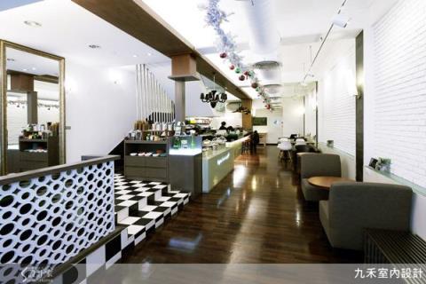 從灰暗到明亮,美式餐廳變身輕食小館!