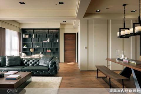 運用韓劇場景元素,完美材質混搭的輕美式居家