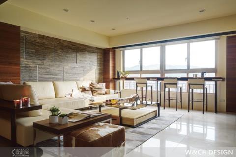 自然採光與質樸建材,打造舒適居家空間