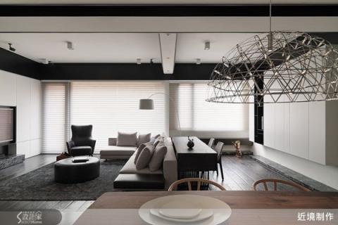 讓空間向度無限延伸,黑白對比的極致簡約宅