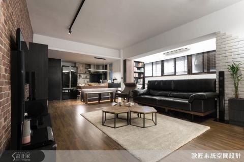 顛覆系統家具的黑白印象!暖心Loft混搭藝術感,打造三代同樂宅邸