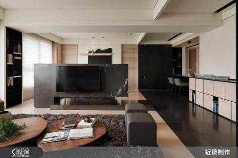 決定性格局、動線安排,豐富的材質與風格融合,創造剛柔並濟的人文居宅