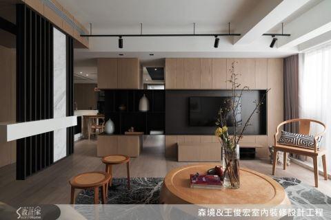 微建築格局安排、中西合璧軟裝布置,打造光影流動,跨文化現代住宅