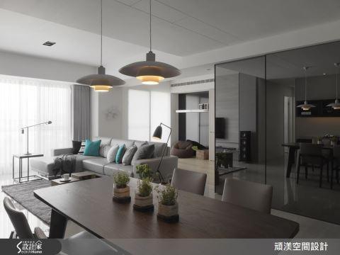 萬灰叢中一抹藍!40 坪現代居宅裡的輕美式風尚