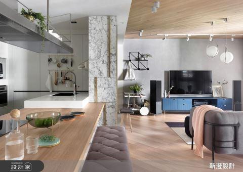 粉嫩色系 + 金屬質感點綴,打造時尚感北歐家居!
