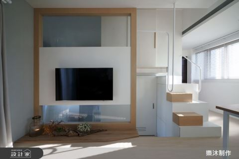 15坪北歐宅2房2廳還不夠!錯層規劃術無限擴充收納空間