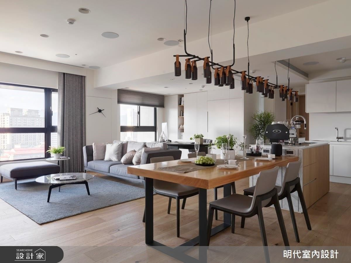 理想的聚會新提案!50 坪現代無印風住宅,與親友在中島共享歡樂點滴
