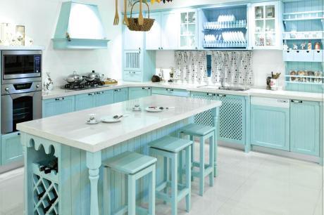 把南法鄉村風的氛圍搬進我家廚房