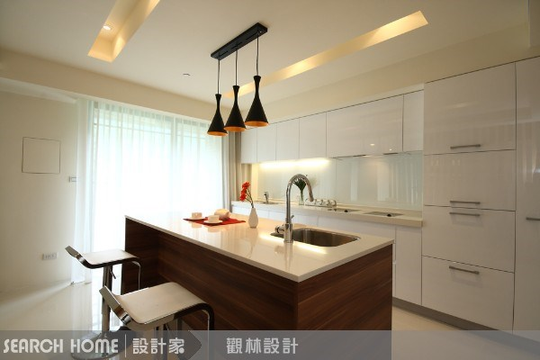 40坪新成屋(5年以下)_休閒風餐廳廚房案例圖片_觀林設計_觀林_18之3