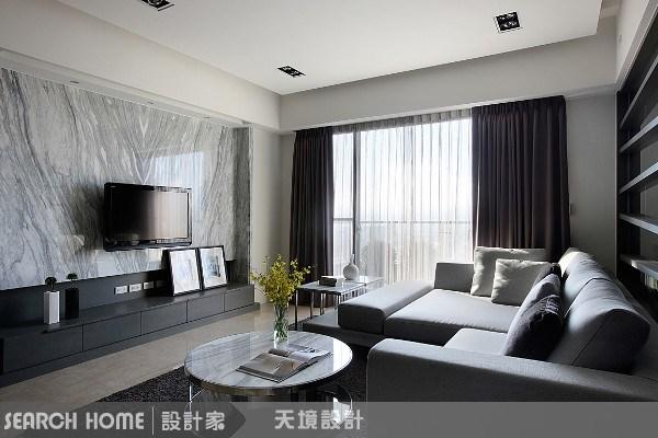 43坪新成屋(5年以下)_現代風客廳案例圖片_天境空間設計_天境_03之4