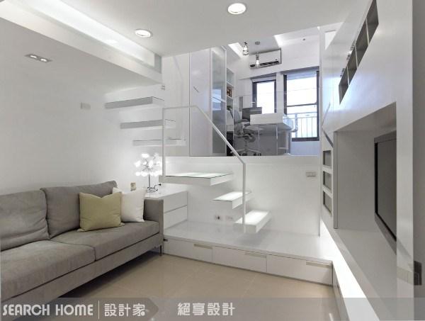 7坪新成屋(5年以下)_現代風客廳案例圖片_絕享設計_絕享_22之1