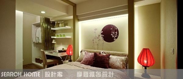 11坪新成屋(5年以下)_新中式風臥室案例圖片_摩登雅舍室內設計_摩登雅舍_01之5