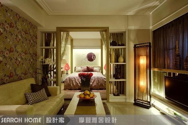 11坪新成屋(5年以下)_新中式風客廳案例圖片_摩登雅舍室內設計_摩登雅舍_01之11