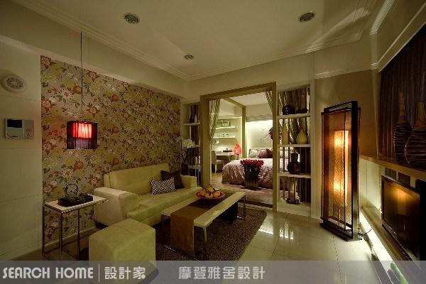 11坪新成屋(5年以下)_新中式風客廳臥室案例圖片_摩登雅舍室內設計_摩登雅舍_01之9