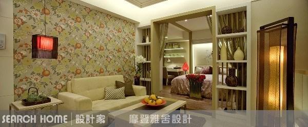 11坪新成屋(5年以下)_新中式風客廳案例圖片_摩登雅舍室內設計_摩登雅舍_01之3