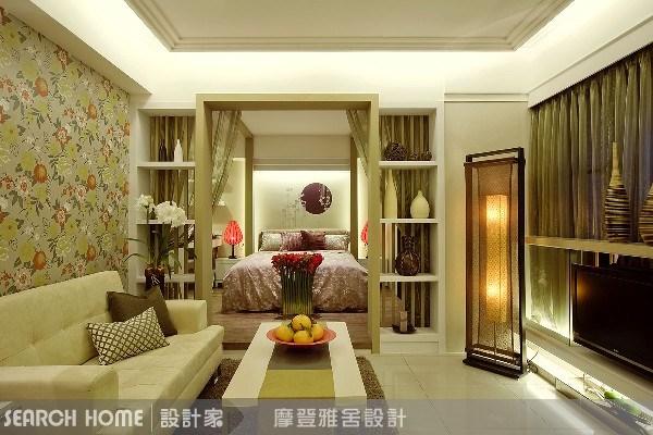 11坪新成屋(5年以下)_新中式風客廳案例圖片_摩登雅舍室內設計_摩登雅舍_01之10