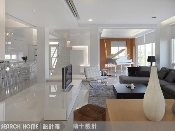 72坪新成屋(5年以下)_混搭風客廳案例圖片_傳十空間設計_傳十_02之1