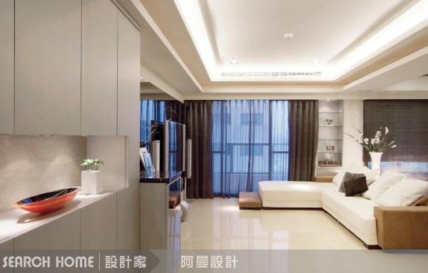 30坪新成屋(5年以下)_現代風客廳案例圖片_阿曼空間設計_阿曼_02之4