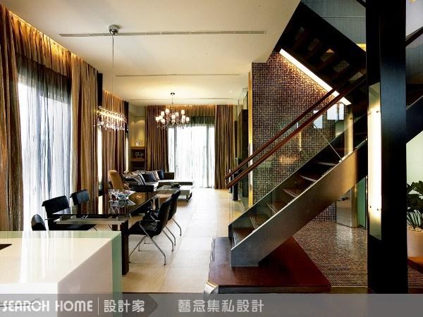 100坪新成屋(5年以下)_奢華風客廳樓梯案例圖片_藝念集私空間設計_藝念集私_06之2