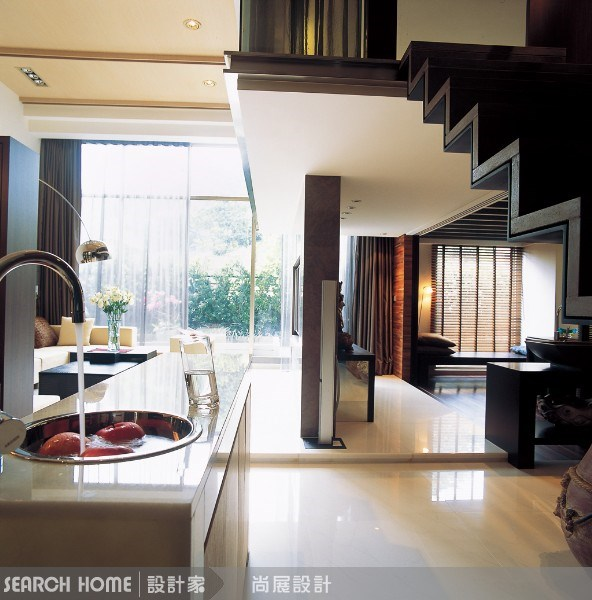 60坪新成屋(5年以下)_新中式風走廊案例圖片_尚展空間設計_尚展_03之1