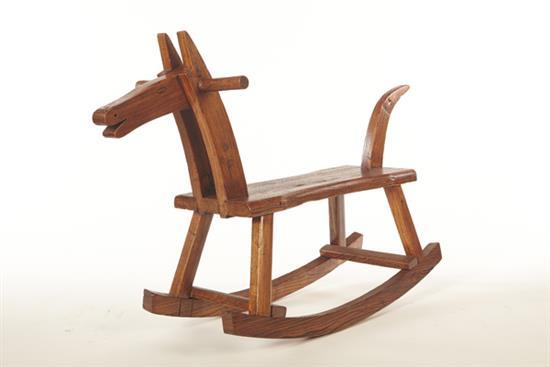 【原木工坊 x 客製 手作木馬搖椅】-搖椅