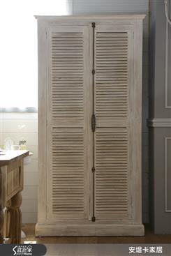 費里蒙法式百葉手工實木收納櫃/鞋櫃-收納櫃