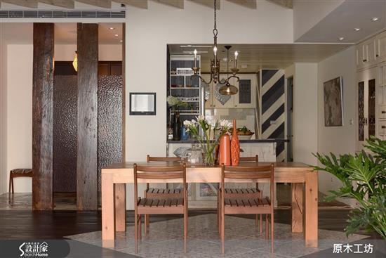 【原木工坊 x 客製化 餐桌 / 款式三】-餐廳類家具