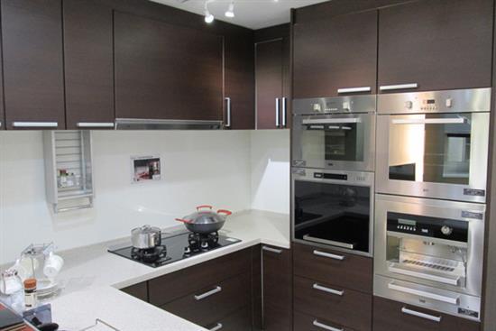 一太日本原裝深咖啡色廚具(ㄇ字型)-廚房設備