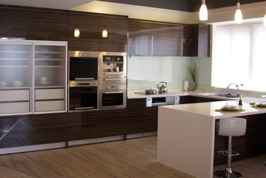 一太日本原裝高光隱把手ㄇ字型 高身櫃+中島廚具-廚房設備