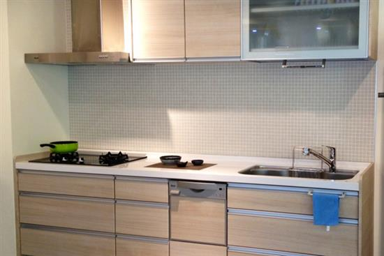 一太日本原裝淺木紋一字型系統廚具-廚房設備