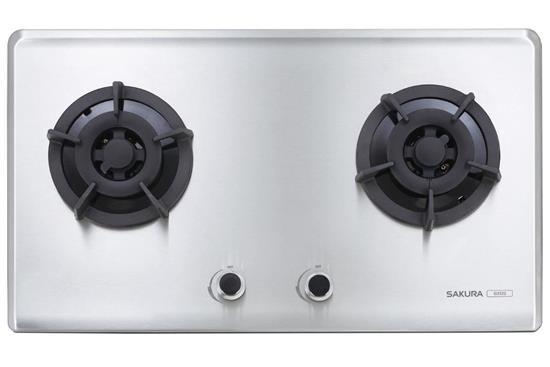 小面板易清雙口瓦斯爐G2522S-瓦斯爐