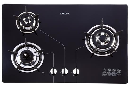 防乾燒節能三口瓦斯爐G2830KG-瓦斯爐