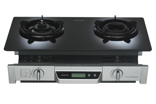 防乾燒節能雙口崁入瓦斯爐G6803S-瓦斯爐