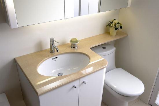 HOUSESTYLE好時代下崁盆專用單邊弧形櫃-浴櫃