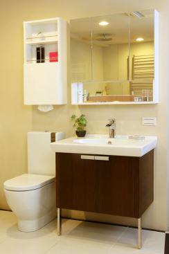 HOUSESTYLE-三門開放鏡櫃-浴櫃