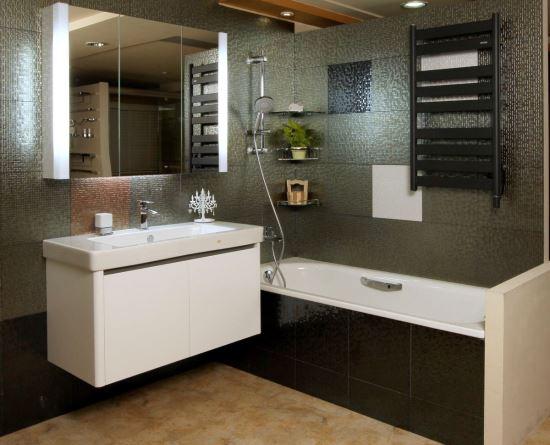 HOUSESTYLE-三門鏡櫃加T5燈管-浴櫃