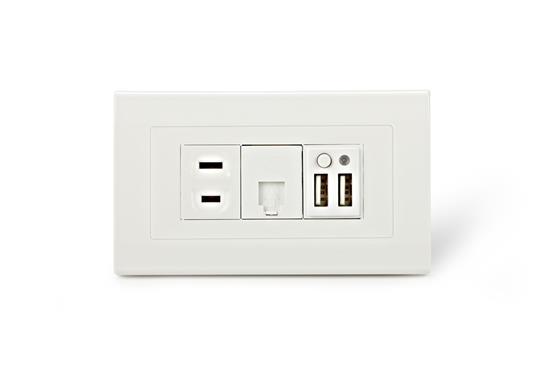 舜記貿易股份有限公司-SMP5系列2孔USB+1孔市電+1孔ADSL插座-SMP5系列 2孔USB +1孔市電+ 1孔ADSL插座,舜記貿易股份有限公司,插座、開關