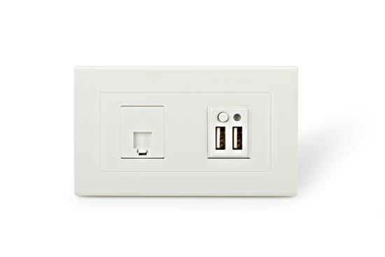 舜記貿易股份有限公司-SMP5系列2孔USB+1孔ADSL插座-SMP5系列2孔USB+1孔ADSL插座,舜記貿易股份有限公司,插座、開關